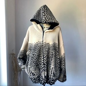 Country Woods Oversized Teddy Leopard Jacket XL